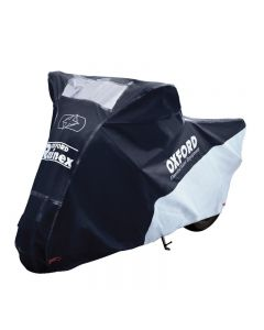 Husa-prelata protectie impermeabila motocicleta RAINEX negru / argintiu L