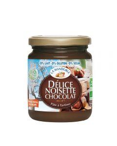 Crema de ciocolata si alune fara gluten, lactoza, soia 300g