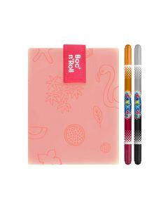 Ambalaj reutilizabil Boc n Roll Paint Flamingo