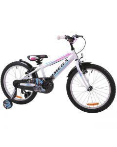 "Bicicleta copii Omega Master alb 16"""