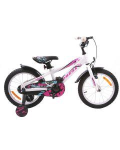 """Bicicleta copii Omega Gerald 16"""" alb 2018"""