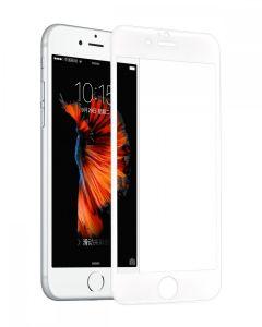 Tempered glass, Hoco, cu rama din otel inoxidabil alb, pentru iPhone 6/6s