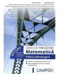 Ghid de pregatire matematica filiera tehnologica. Exercitii recapitulative pentru clasele IX-XII, teste pregatitoare pentru examanul de bacalaureat.