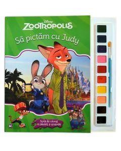 Sa pictam cu Judy - Carte de colorat cu pensula si acuarele