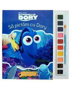 Sa pictam cu Dory - Carte de colorat cu pensula si acuarele