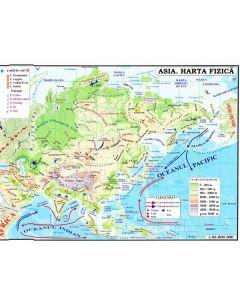 Asia - Harta Fizica + Harta Politica 1:46.000.000 (pliata)