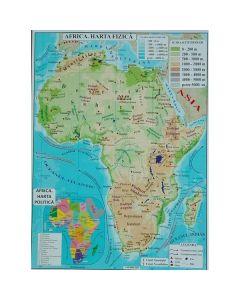 Africa + Australia - Harta Fizica A3