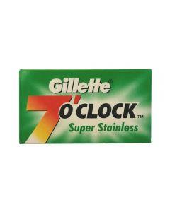 Rezerve lame de ras Gillette 7o clock Super Stainless 5 bucati