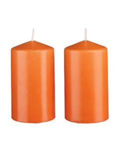 Set 2 lumanari parfumate Melinera, portocaliu, 8 x 12 cm