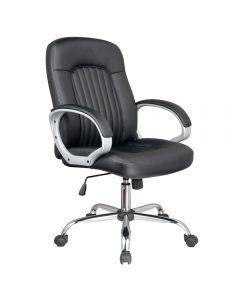 Scaun de birou ergonomic, Atelier Vinga, piele ecologica, negru