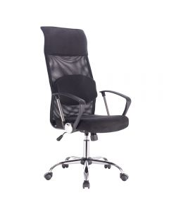 Scaun de birou ergonomic, Atelier Melker, mesh, negru