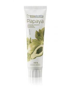 Pasta de dinti pentru albire cu extract de papaya  Cosmos Organic  Ecodenta  100ml