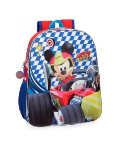 Ghiozdan scoala 3D 33 cm Mickey Race