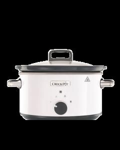 Slow cooker Crock Pot CSC030X-DIM, 3.5 L  Manual, 210W, 2 setari de gatire, Functie de pastrare la cald, Vas Ceramic  Detasabil, Alb