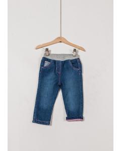 Jeans căptușit bebe 6/36 luni