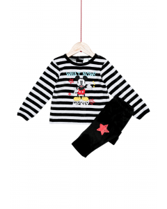 Pijama catifea bebe  Mickey 6/36 luni
