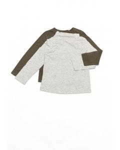 Set 2 bluze mânecă lungă bebe 12/36 luni