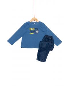 Set tricou și pantaloni bebe 6/36 luni