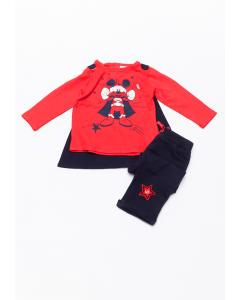Set 3 piese bebe Mickey 6/36 luni Colecție Nouă