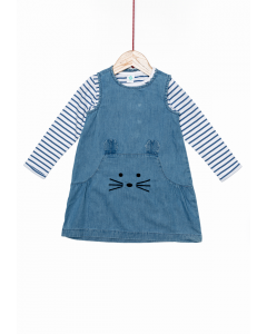 Set rochie și tricou bebe 6/36 luni