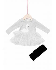 Set rochie și colanți 0/6 luni Colecție Nouă