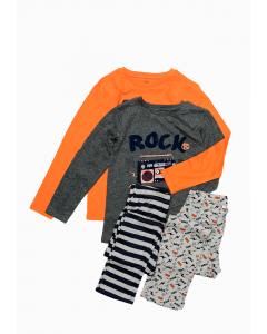 Set 2 pijama mânecă lungă băieți 2/10 ani