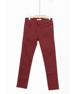 Pantaloni twill fete 2/14 ani