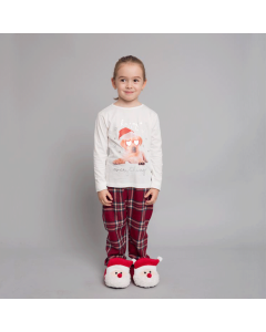 Pijama Crăciun fete 2/16 ani