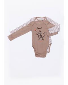Set 2 body bebe mânecă lungă 3/6 luni