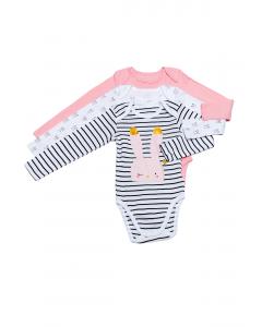 Set 3 body bebe mânecă lungă 3/36 luni