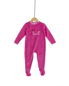 Salopetă noapte catifea bebe 3/23 luni