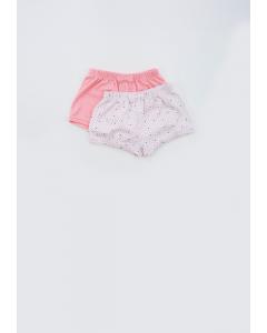 Set 2 pantaloni scurți bebe 3/36 luni