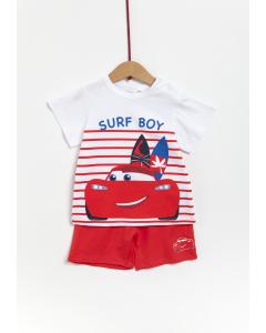 Set tricou și pantaloni bebe 3/36 luni Cars