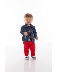 Jachetă jeans bebe 6/36 luni