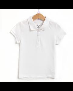 Tricou polo mânecă scurtă fete 2/14 ani