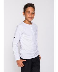 Tricou cu nasturi băieți 2/14 ani