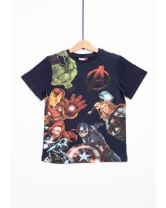 Tricou mânecă scurtă băieți 2/8 ani Avengers