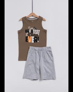 Set tricou și pantaloni scurți băieți 2/14 ani