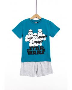 Pijama mânecă scurtă băieți 3/8 ani Star Wars