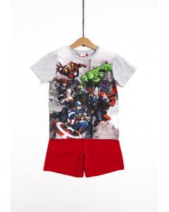 Pijama mânecă scurtă băieți 2/8 ani Avengers