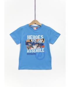 Tricou mânecă scurtă băieți Avengers 3/8 ani