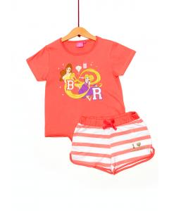 Set tricou și pantaloni scurți fete Princess 2/8 ani