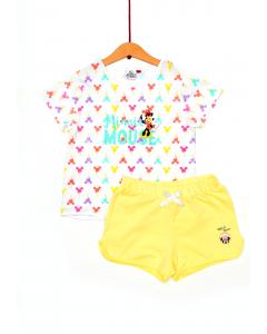 Set tricou și pantaloni scurți fete Minnie 2/8 ani