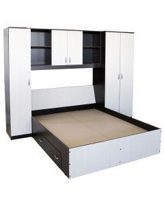 Dormitor Mario cu pat cu sertar 160x200 cm, Wenge / Brad