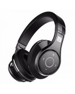 Casti Bluetooth Bluedio U (UFO), 8 difuzoare, Wireless Headphones Over-Ear PPS Cu Microfon, anularea zgomotelor, Negru