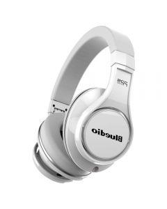 Casti Bluetooth Bluedio U (UFO), 8 difuzoare, Wireless Headphones Over-Ear PPS Cu Microfon, anularea zgomotelor, Alb