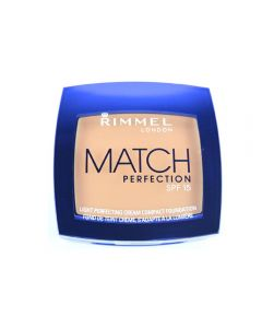 Fond de ten cremos Rimmel Match Perfection Cream Compact Foundation - Light Porcelain