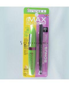 Mascara si creion dermatograf  Rimmel The Max Bold Curves Extreme Volume and Lift Mascara plus Soft Kohl kajal eyeliner