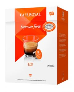 Capsule Cafe Royal Espresso Forte compatibile Dolce Gusto, 16 capsule