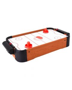 Joc masa Air Hockey Globo din lemn, cu baterii, 51 cm